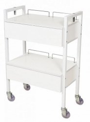 2 DRAWER BEAUTY TROLLEY WHITE