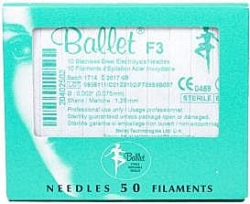 BALLET S/STEEL NEEDLES F3