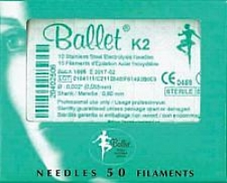 BALLET S/STEEL NEEDLES K2