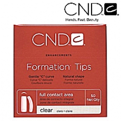 CND FORMATION CLEAR TIPS SIZE 10 50-PK