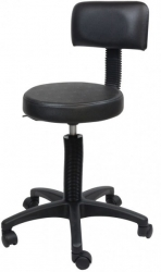 STOOL G/LIFT WITH BACK (SPRINT) BLACK
