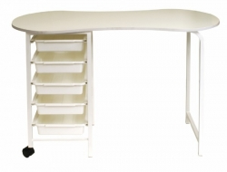 KIDNEY MANICURE TABLE - WHITE 1100X470
