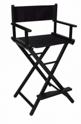 MAKE-UP CHAIR PORTABLE BLACK