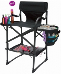 MAKE-UP CHAIR IVY PORTABLE BLACK