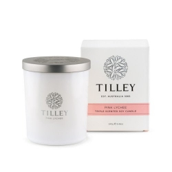 TILLEY SOY CANDLE PINK LYCHEE 240GM