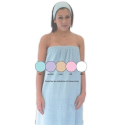 TOWELLING D/S WRAP GOWN WHITE SPA