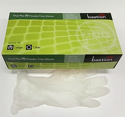 VINYL GLOVE LARGE - CLEAR POWDERFREE